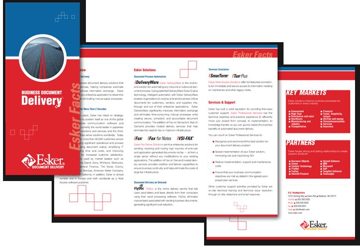 Esker Tri-Fold Brochure