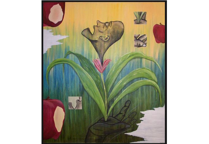 Seeking Approval - 38in x 44in - Oil paint on canvas