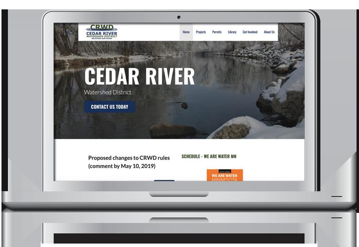 Cedar River Watershed District Website Design