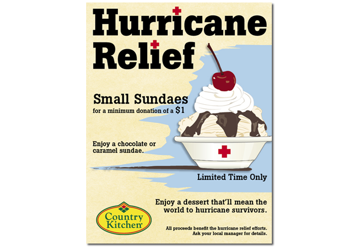 Country Kitchen Fundraiser Ad