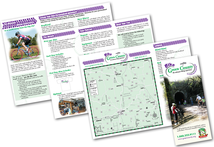 Green County Bike Brochure Design