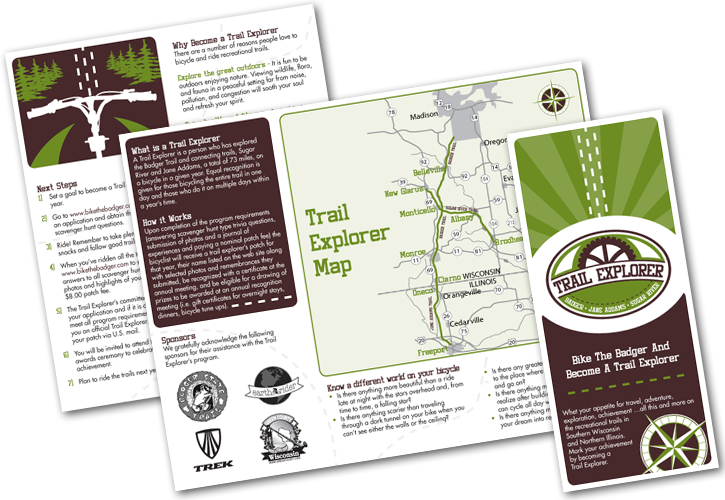 Green County Bike Trail Map Design