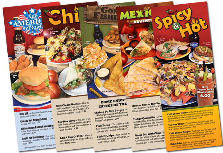 King Pin Menu Specials Design