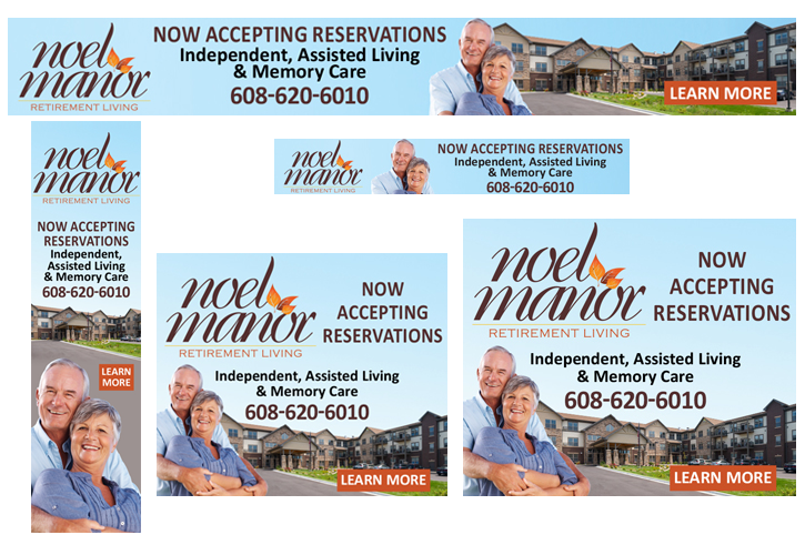 Noel Manor Retirement Living Online Digital Ads Design