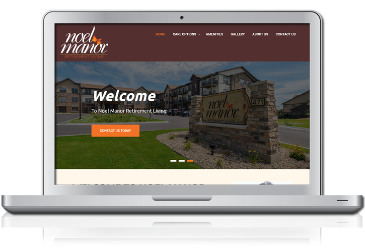 Noel Manor Retirement Living Website Design