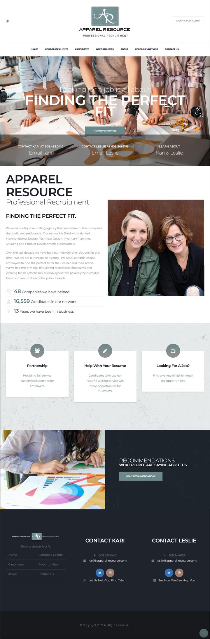 Apparel Resource Website Design
