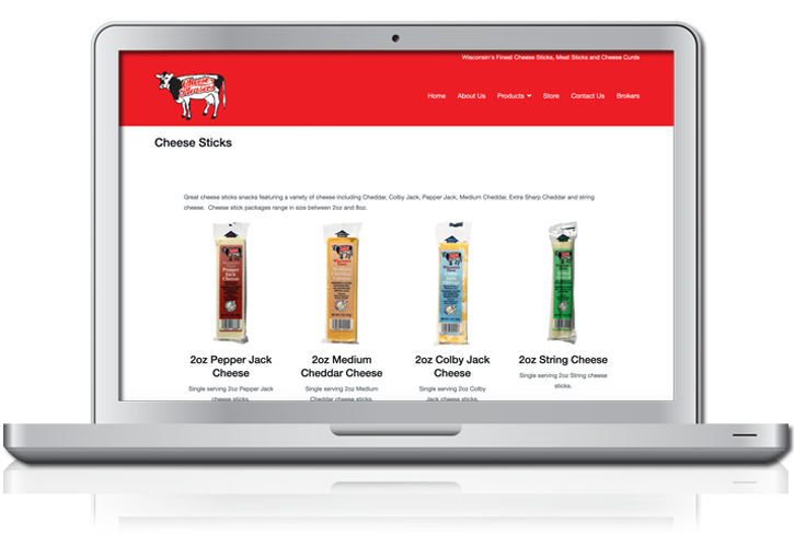 Cheese Pleasers Website Cheese Sticks Page