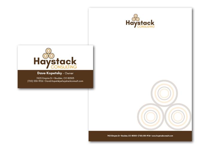 Haystack Consulting Branding Collateral Design