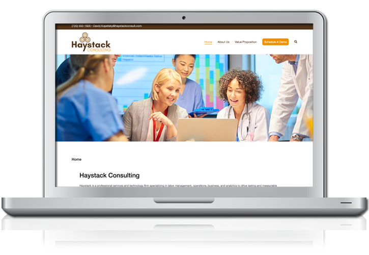 Haystack Consulting Website Design