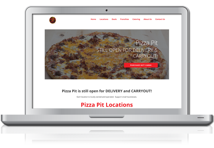 Pizza Pit Website Design
