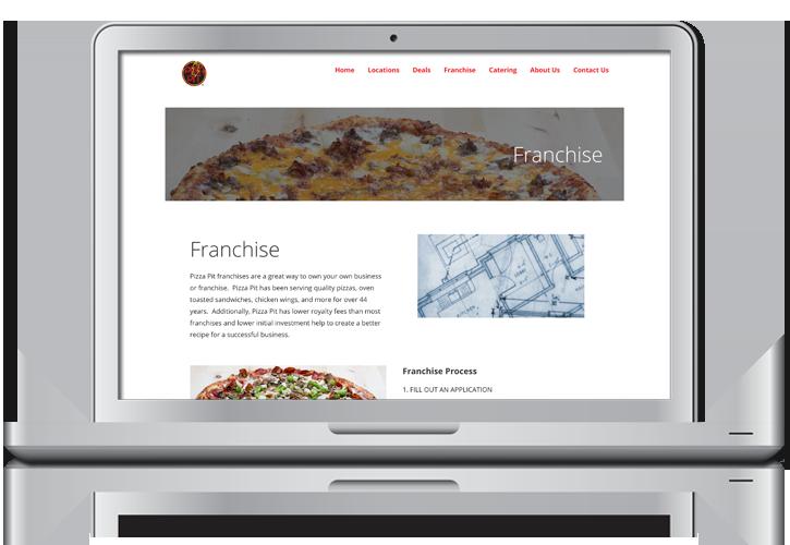 Pizza Pit Franchise Website Design