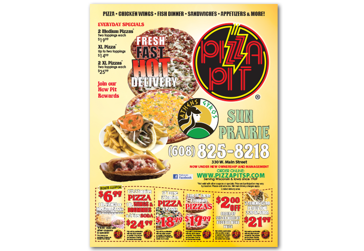 Pizza Pit Box Top Coupon Design
