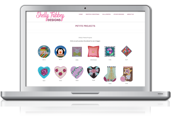 Shelly Tribbey Product Layout Website