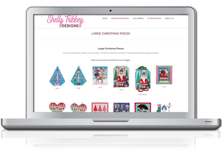 Shelly Tribbey Website Design of Products