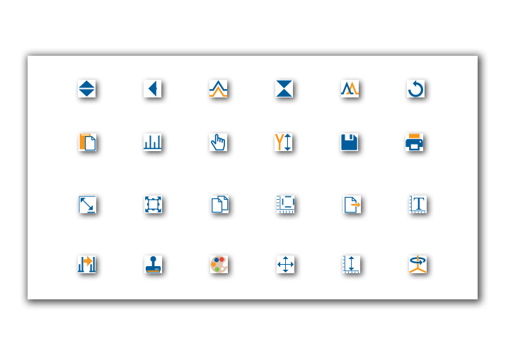 Peak Spectroscopy UI Software Icon Design